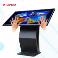 Quality 55 Inch Advertising Interactive Touch Screen Kiosk 10 Point Touch For Indoor for sale