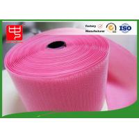 Quality Custom Color Wide hook and loop Hook & Loop Fastening Tape 100% Nylon Light Pink for sale