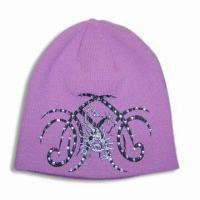 Quality Acrylic Knitted Hat, Various Colors are Available for sale
