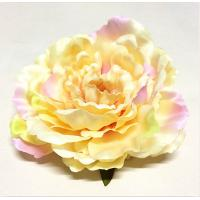 China Foldable Tiny Fabric Flowers Warm Yellow Color Environmental Friendly on sale