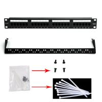 Buy cheap WONTERM Unshielded 19'' 24 Port Cat6 Patch Panel ABS-UL-94V0 product