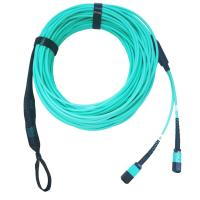 China 16cores OM3 MPO Break-out cable on sale