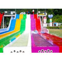 Quality Holiday Village Rainbow Water Slide / High Speed Slide 1 Year Warranty for sale