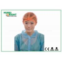 Quality Orange Non Woven Disposable Surgical Caps With 21 Single / Double Elastic for sale