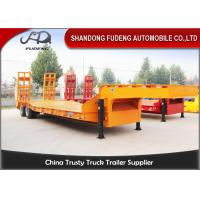 Buy cheap Strong 25 Ton - 35 Ton Low Bed Semi Trailer , Two Axles 8 Wheel Trailer product