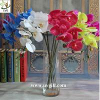 China UVG Factory direct PU orchids artificial flower arrangements with vase for wedding bouquet on sale