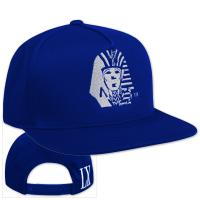 Quality Flat / 3D Embroidery Blue Hip Hop Caps with Velcro Buckle 58cm For Kids for sale