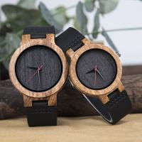 Buy cheap Leisure Quartz Wrist Watch For Boy Natural Zebra Wood Creative Casual Style from wholesalers