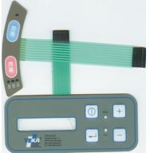 Transparent window light tactile dome key membrane switch