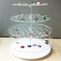 Quality Desktop Acrylic Jewelry Organizer Jewelry Exhibition Acrylic Display Tray For Ring for sale