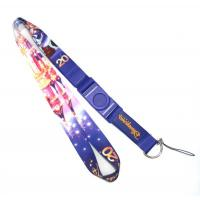 China Cell Phone Heat Transfer Lanyard With D Hook String And Disney Logo on sale