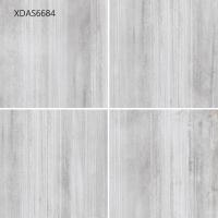 Quality 600*600*10MM Gray Glazed Porcelain Tile For Kitchen Floor Corridor Floor  Cement Straight Line Pattern for sale