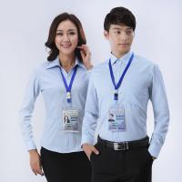 Buy Office 3 Colors Custom Business Shirts Slim Fitting S To 5XL Size at wholesale prices