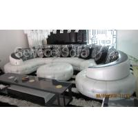Leather Crystal Sofa Furniture Round Bed Hotel Room