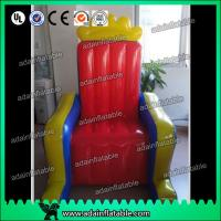 Quality Customized PVC tarpulin cloth Inflatable Airtight King Throne Princess Throne for sale