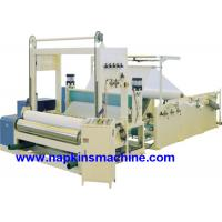 Buy cheap Full Automatic Paper Roll Slitting Rewinding Machine For Napkin / Facial Tissue product