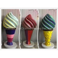 Quality Giant Fiberglass Ice Cream H180cm Shopping Centre Decorations With Round Base for sale
