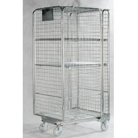Buy Stainless Steel Roll Container Lockable Steel Cage With One Shelf Net at wholesale prices