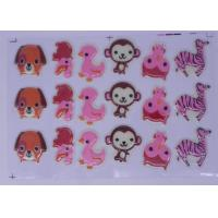 Quality 3D Molds Carton Chocolate Transfer Sheets , Panda Shaped Cake Decoration for sale