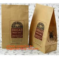 Quality Customize 3 Side Visible Clear Window Offset Printing Bakery Bags, Customize V Bottom with Clear Window Food Grade Toast for sale