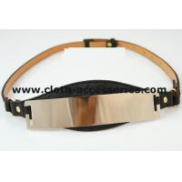 Quality Rose Gold Womens Pu Cloth Belts Custom Waterproof  With Metal Mirror for sale