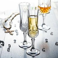 Quality Celebration Champagne Wedding Wine Glasses / Transparent Glass Cup With Lid for sale