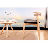 Quality Living Room Modern Furniture Chairs Low Back Wooden Dining Chairs With Padded Seats for sale