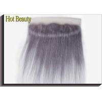 Quality Purple Grey Human Hair Lace Frontal Straight Pre - Plucked Lace No Chemical for sale