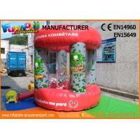 Quality Red PVC tarpaulin Advertising Inflatables / Cash Machine Inflatable Money Booth for sale