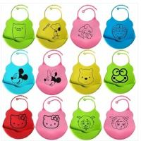Quality 2014 Silicon bib with cartoon designs for 6 month to toddlers washable wholesale baby sili for sale