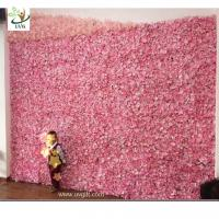 China UVG cheap wedding backdrop design plastic grid artificial flower wall and arch for wedding decor CHR1142 on sale