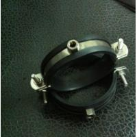 Stainess Steel Pipe Holder Bracket Rubber Lined Split Clamp 304 Pipe Clip