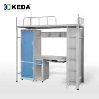 Quality 192cm Long 180cm High Steel Bunk Bed With Desk for sale