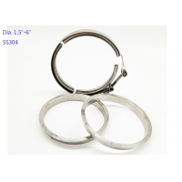 Quality 5 Inch Quick Release 19mm Width Stainless Steel Exhaust Clamps for sale