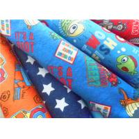 China Cartoon Cotton Flannel Cloth Double Brushed Flannel Fabric For Baby Bedding on sale