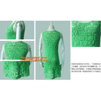 China Casual Fashion, Vintage O-Neck, Sleeveless, Women Long Crochet, Chiffion Blouse Plus Size on sale