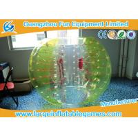 Buy cheap Yellow and white Knocker ball soccer Inflatable Bubble Ball ballon for Clubs product