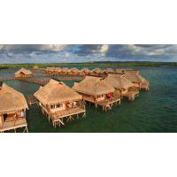 Buy Small Modular Prefabricated Hotel , Overwater Bungalow With Light Steel Frame at wholesale prices