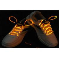 China Yellow Orange Round Neon LED Glowing Shoelaces For Concert Size 820 * 2.8mm on sale