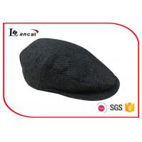 China Herringbone Wool Summer Flat Cap With Black Cotton Quilting Ling For Mens on sale