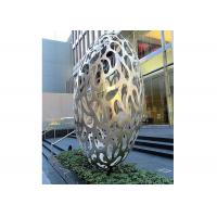 Quality Hollow Eggs Stainless Steel Sculpture Modern Installation Art Sculpture for sale