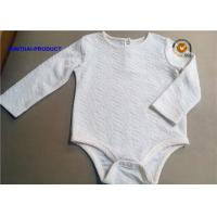 Quality Cool Fabrication Baby Romper Suit , Crinkle Fabric Long Sleeve Bodysuit Baby for sale