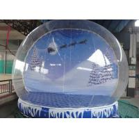Buy cheap Waterproof Christmas Blow Up Snow Globe , Inflatable Lawn Snow Globe High Safety from wholesalers
