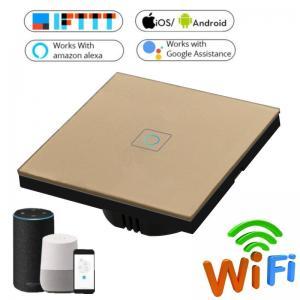 Buy EU Standard Wifi Light Switch Wall Switch Wireless Smart Switch 220v APP Control at wholesale prices