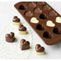 China Lovely heart shape chocolate Ice cube silicone mold on sale