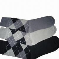 Quality Men's Classic Combed Cotton Business Socks, Cool and Comfortable for sale