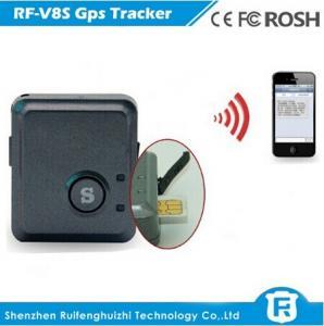 China Smart manual gps vehicle tracker rohs with noise sensor and vibration sensor alarm rf-v8s on sale