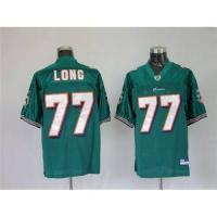 China Nfl miami dolphins #77 long green jerseys on sale