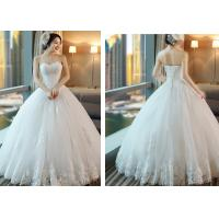 Quality Most Beautiful White Color Wedding Ball Gown , Nice Dresses For Wedding for sale