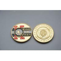 China Poker chip card guard gold Commemorative Coins with silk screen , offset printing on sale